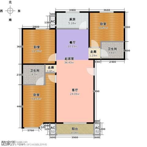 绣江南2卫1厨111.00㎡户型图