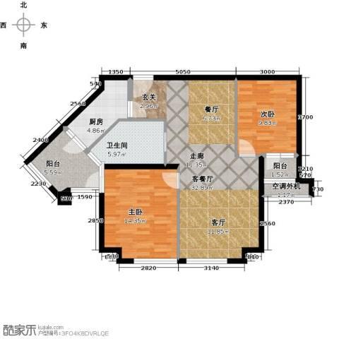 威尔夏大道2室1厅1卫1厨108.00㎡户型图