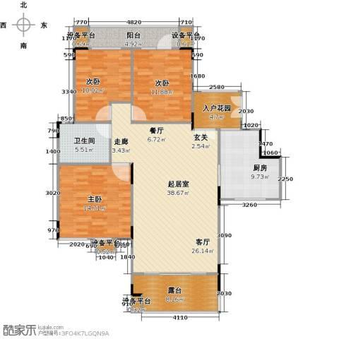 远大生态风景3室0厅1卫1厨149.00㎡户型图