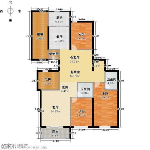 阿波罗公馆3室0厅2卫1厨186.00㎡户型图