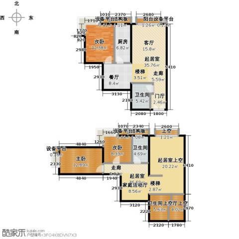 风景Club3室0厅2卫1厨138.44㎡户型图