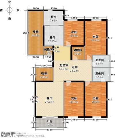 阿波罗公馆4室0厅2卫1厨216.00㎡户型图