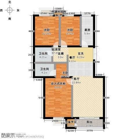 远洋自然3室0厅2卫1厨138.00㎡户型图