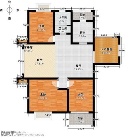 上城3室1厅2卫1厨133.00㎡户型图
