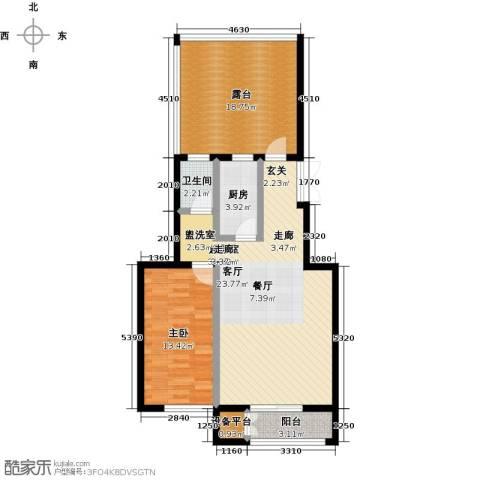 远洋自然1室0厅1卫1厨80.00㎡户型图