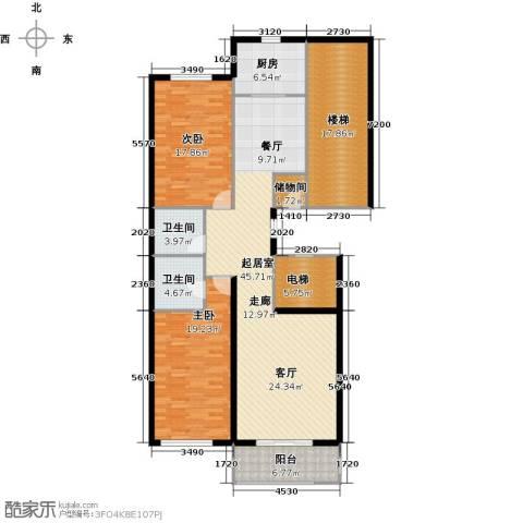 阿波罗公馆2室0厅2卫1厨145.00㎡户型图