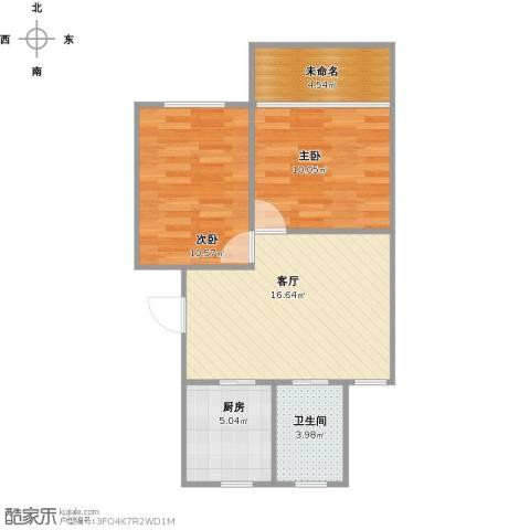 成山小区2室1厅1卫1厨69.00㎡户型图