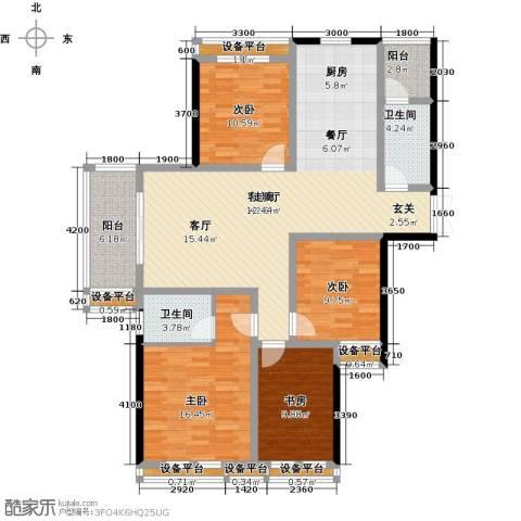 尚格名城4室1厅2卫0厨143.00㎡户型图