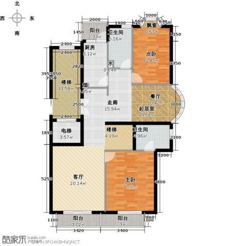 汤泉逸墅2室0厅2卫1厨152.00㎡户型图