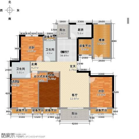 尚格名城3室1厅2卫1厨153.00㎡户型图