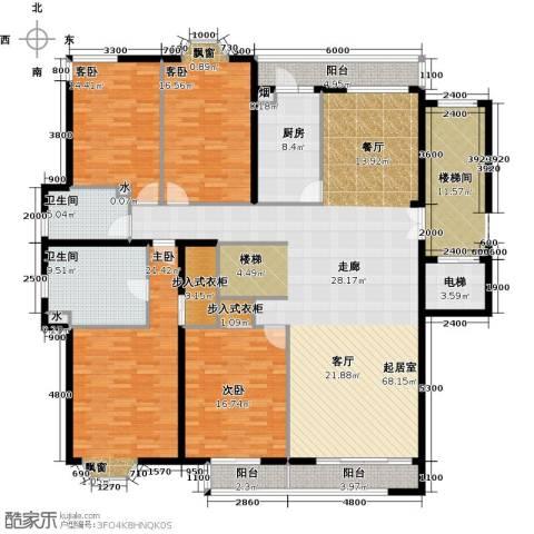 汤泉逸墅4室0厅2卫1厨251.00㎡户型图