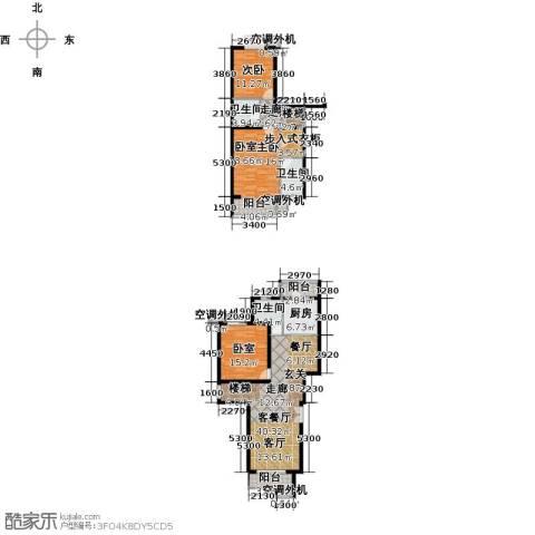 天鸿美域2室1厅3卫1厨151.00㎡户型图