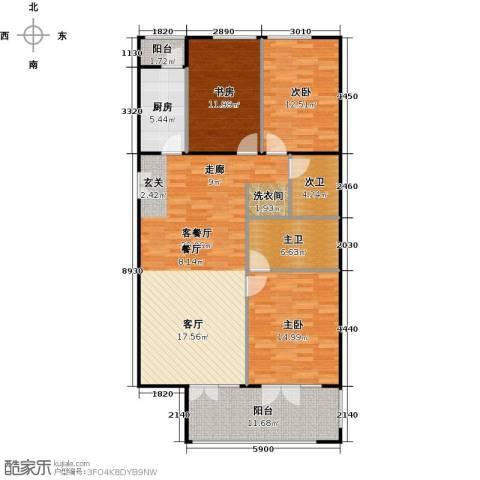 方庄6号3室1厅0卫1厨145.00㎡户型图