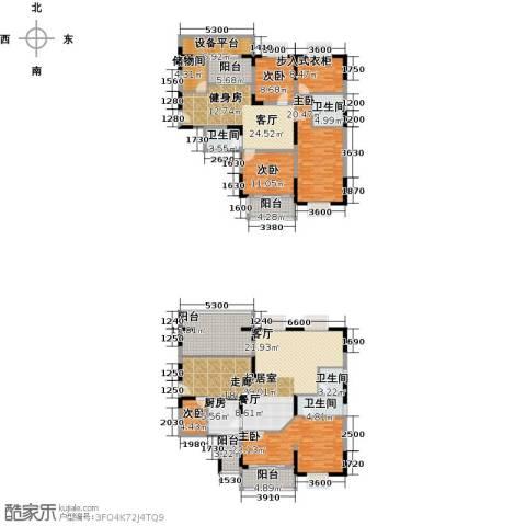 闽东国际城高峰汇5室1厅4卫1厨306.00㎡户型图