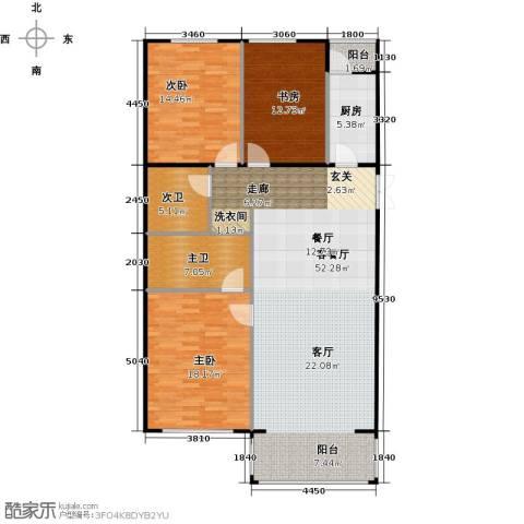 方庄6号3室1厅0卫1厨155.00㎡户型图