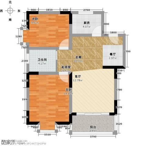 闽东国际城高峰汇2室0厅1卫1厨95.00㎡户型图