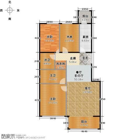 方庄6号3室1厅0卫1厨148.00㎡户型图
