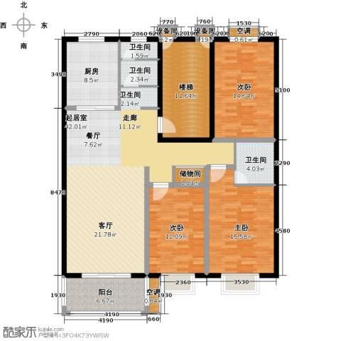 三禾城中城3室0厅3卫1厨138.00㎡户型图