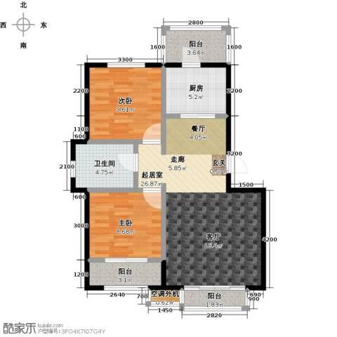 阳光嘉城二期2室0厅1卫1厨89.00㎡户型图