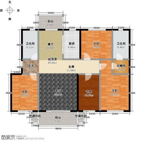 阳光嘉城二期4室0厅2卫1厨168.00㎡户型图