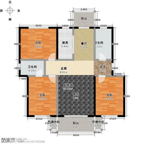 阳光嘉城二期3室0厅2卫1厨128.00㎡户型图