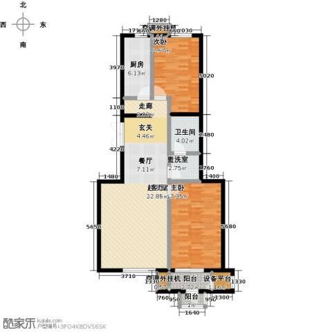 远洋自然2室0厅1卫1厨107.00㎡户型图