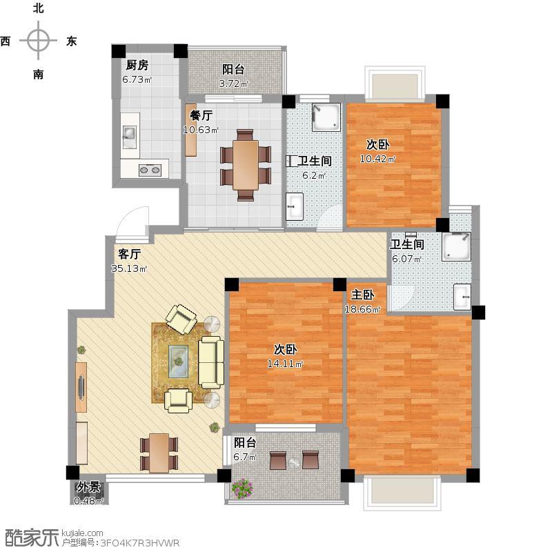 金海家园-2室2厅70平