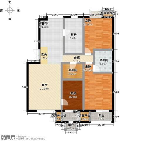 远洋自然3室0厅2卫1厨146.00㎡户型图