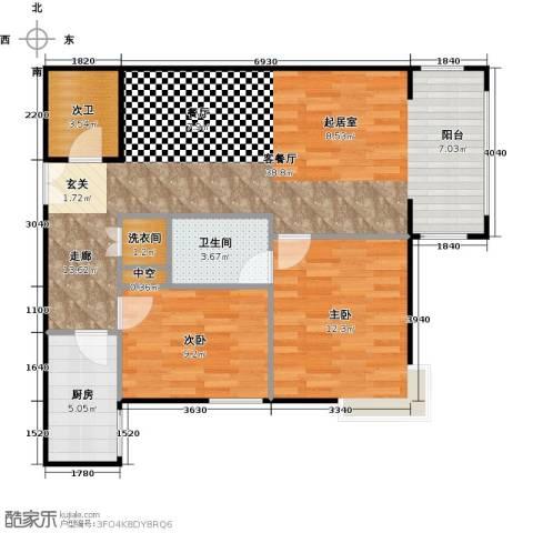 方庄6号2室1厅1卫1厨100.00㎡户型图