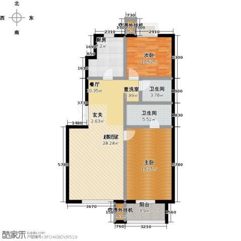 远洋自然2室0厅2卫1厨113.00㎡户型图