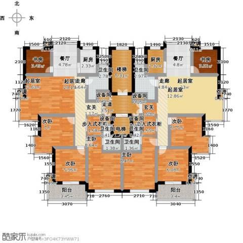 三禾城中城8室0厅6卫2厨161.00㎡户型图