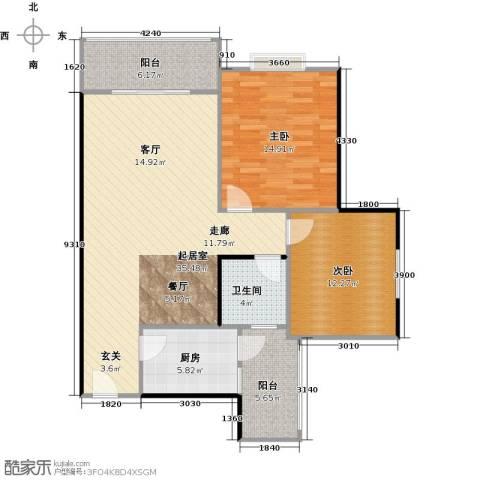 华兴名城2室0厅1卫1厨113.00㎡户型图