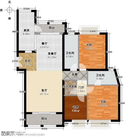威尔夏大道3室1厅2卫1厨159.00㎡户型图