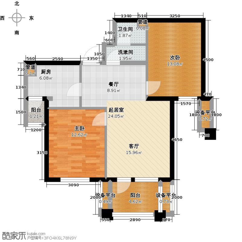 阳光新业国际两室两厅户型