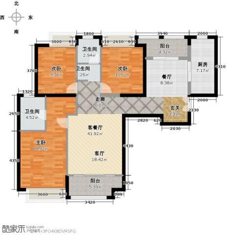 威尔夏大道3室1厅2卫1厨148.00㎡户型图
