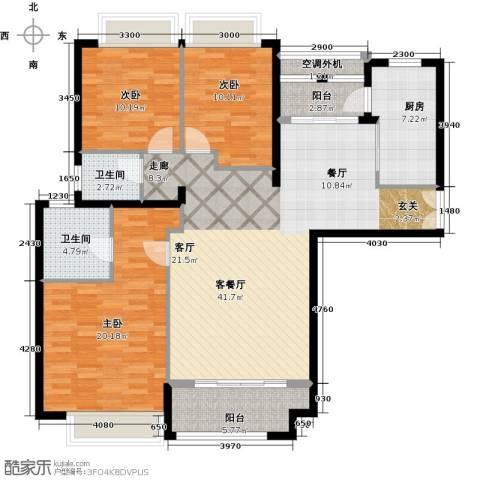 威尔夏大道3室1厅2卫1厨154.00㎡户型图