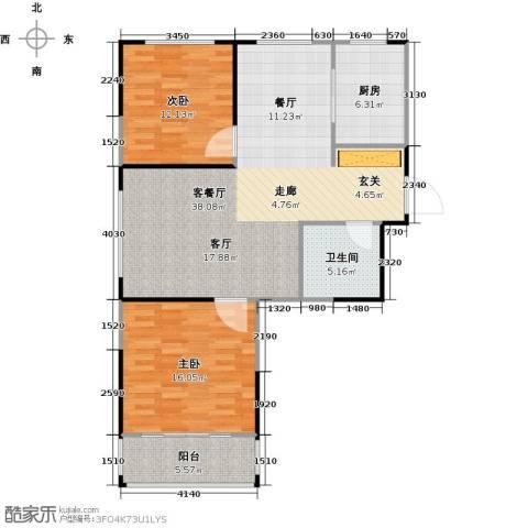 菁英汇2室1厅1卫1厨89.00㎡户型图