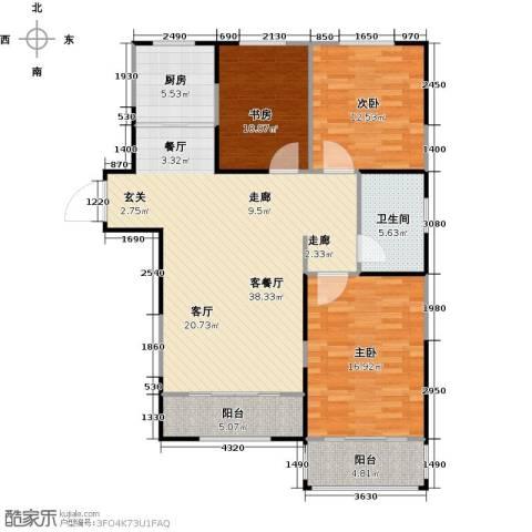 菁英汇3室1厅1卫1厨106.00㎡户型图