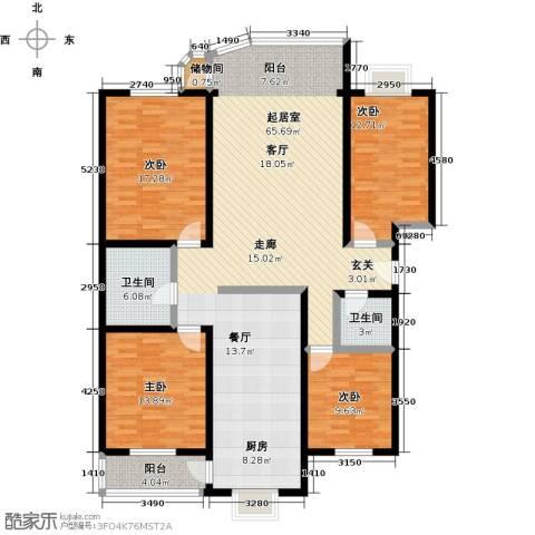 居安家园4室0厅2卫0厨151.00㎡户型图