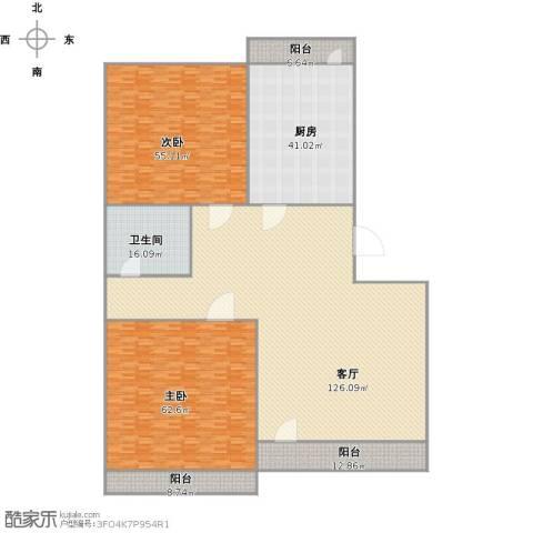 新天地小区2室1厅1卫1厨428.00㎡户型图