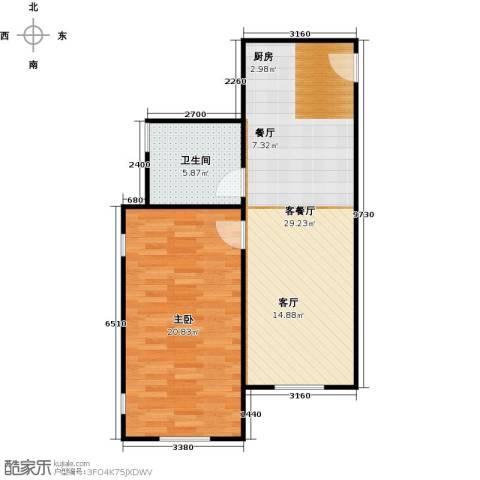 海岸别苑1室1厅1卫0厨59.23㎡户型图