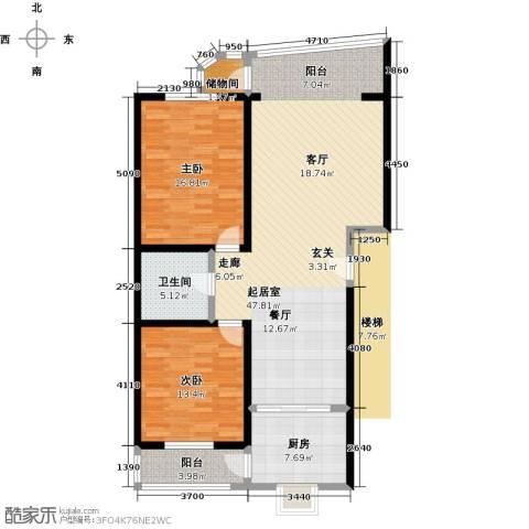 居安家园2室0厅1卫1厨109.00㎡户型图
