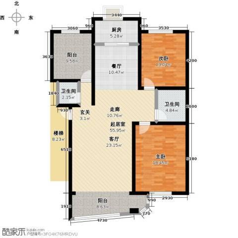 居安家园2室0厅2卫1厨123.30㎡户型图