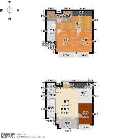威尔夏大道3室1厅2卫1厨167.00㎡户型图
