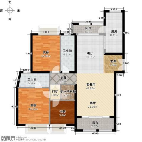 威尔夏大道3室1厅2卫1厨158.00㎡户型图