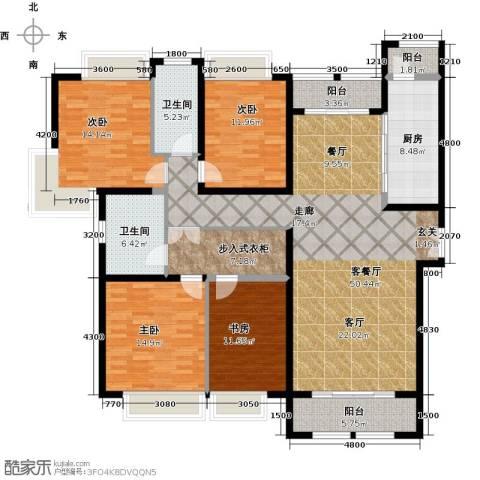 威尔夏大道4室1厅2卫1厨205.00㎡户型图