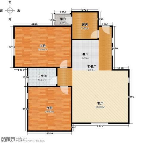 海岸别苑2室1厅1卫1厨112.01㎡户型图