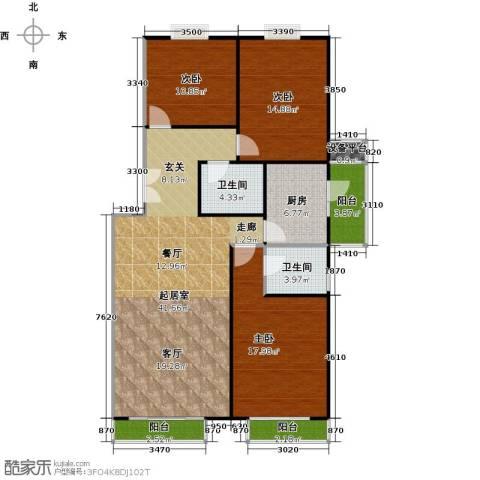 良工佳苑3室0厅2卫1厨118.00㎡户型图