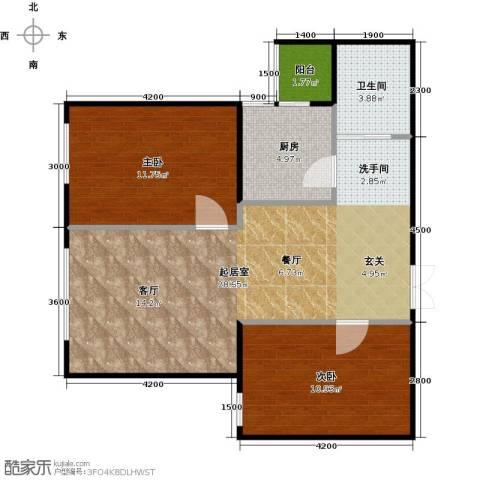 财富东方2室0厅1卫1厨81.00㎡户型图