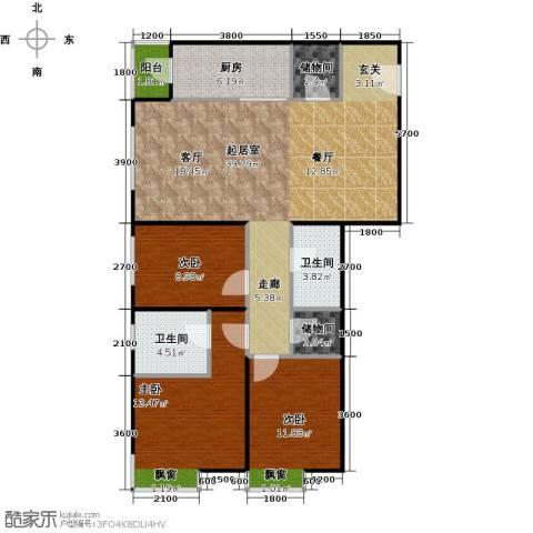 财富东方3室0厅2卫1厨130.00㎡户型图